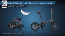 THE ONE - Le Vélo Electrique Pliant le plus Léger