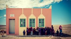 Une école dans le désert marocain