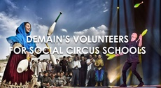Demain's volunteers for Social Circus Schools